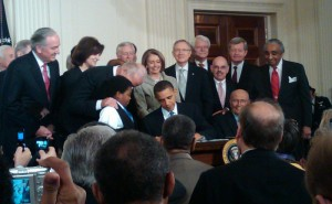 President Obama signing the Affordable Care Act, March 24, 2010. Photo courtesy Keith Ellison, Flickr Creative Commons