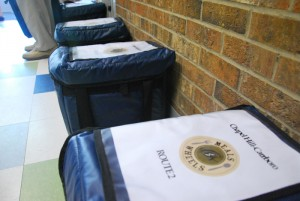 Meals ready to be delivered by Chapel Hill and Carrboro Meals on Wheels volunteers.