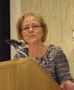 New Health and Human Services secretary Dr. Aldona Wos spoke to public health leaders yesterday.
