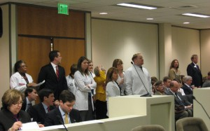 Many doctors, health care industry advocates and lobbyists packed the committee room on Tuesday morning to hear debate over the rejection of Medicaid expansion in Senate Bill 4.