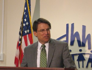 Gov. Pat McCrory announced plans a create the Partnership for a Healthy North Carolina, a statewide Medicaid managed care plan in April, 2013.