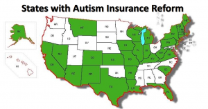 As of 2012, 31 states have adopted some kind of insurance coverage for applied behavioral analysis.
