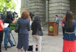 Gov. Pat McCrory and Raleigh mayor Nancy McFarlane made the joint announcement Thursday morning about the Dix deal.