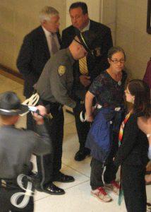Legislature protester