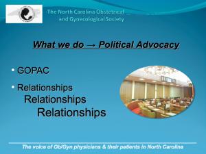 Slide from presentation on NCOGS website.