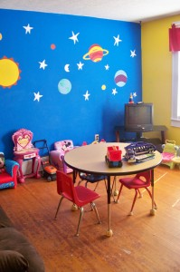 Another of Safe Havens three visitation rooms where parents and kids can spend time together.