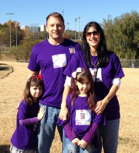 Teri Saurer and family at the Fall Stroll for Epilepsy 2013. Photo credit: Laura Sharpe