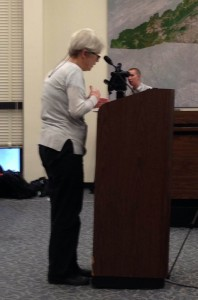 Martha Girolami, a Chatham County resident, told fracking regulators that their chemical-disclosure rule raised serious concerns about public health.