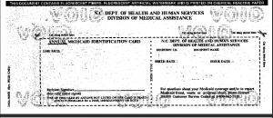 blank medicaid card