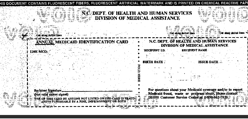 NC DHHS: Medicaid Cards Incorrectly Mailed to Recipients ...