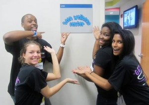 TAC Members at the Grand Opening of the Teen Wellness Center April, 2012. Roshini Amarasinghe is pictured, bottom right.