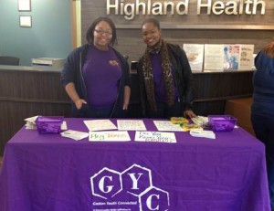 TAC Members sharing NC Minor's Rights Inform ation to attendees at the Highland Fall Festival on November 15, 2012