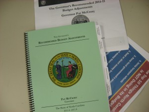 picture of governor's budget documents