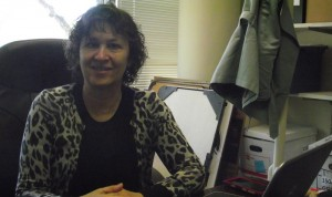 Researcher Carol Golin in her office at UNC-Chapel Hill.