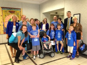 Advocates looking to convince lawmakers to pass the autism insurance measure roamed the halls of the General Assembly to speak to legislators early in July.