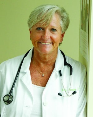District 41 Democratic candidate Gale Adcock is a nurse practitioner who runs health services at SAS Corporation.