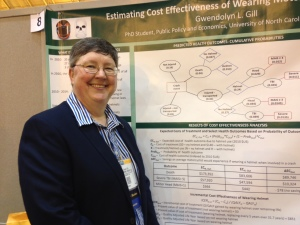 UNC-Charlotte researcher Gwendolyn Gill calculated the economic costs of not wearing a motorcycle helmet. She presented her findings at the annual American Public Health Association conference in New Orleans this week.