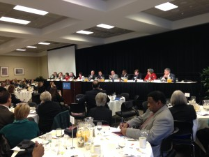 More than 300 people spent their Saturday morning at the breakfast, which featured a panel that included lawmakers, a district attorney, several people with mental health disabilities and psychiatrist.