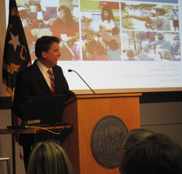 Gov. Pat McCrory presented his recommended $21.5 billion budget Thursday morning.
