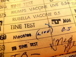 "Vaccine record ""yellow card"""