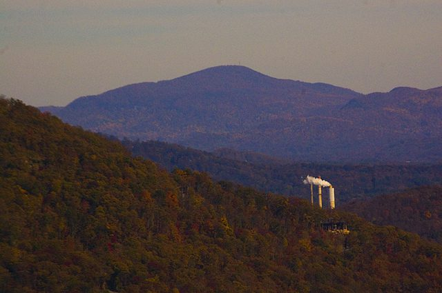 Smokestack in western NC along the Blue Ridge Parkway.