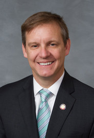 Mike Hager, North Carolina's House Majority Leader. Hager introduced a provision that loosens requirements for gas drilling's air rules. Photo courtesy NC General Assembly
