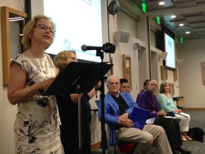 DHHS Secretary Aldona Wos praised winners of the   Photo credit: Rose Hoban