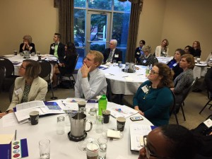 Representatives from several dozen businesses listened to presentations at the Prevention Partners meeting Tuesday.