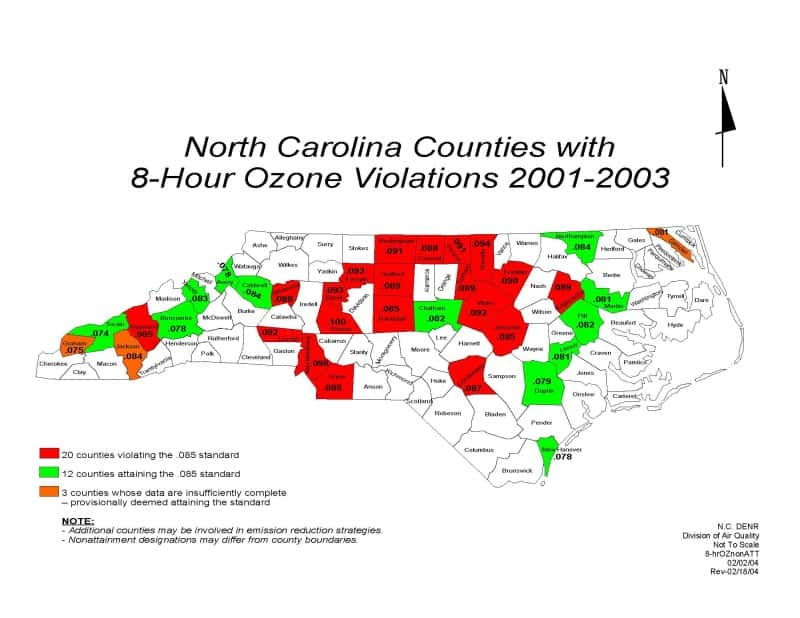 North Carolina Likely To Meet New Ozone Rule  North