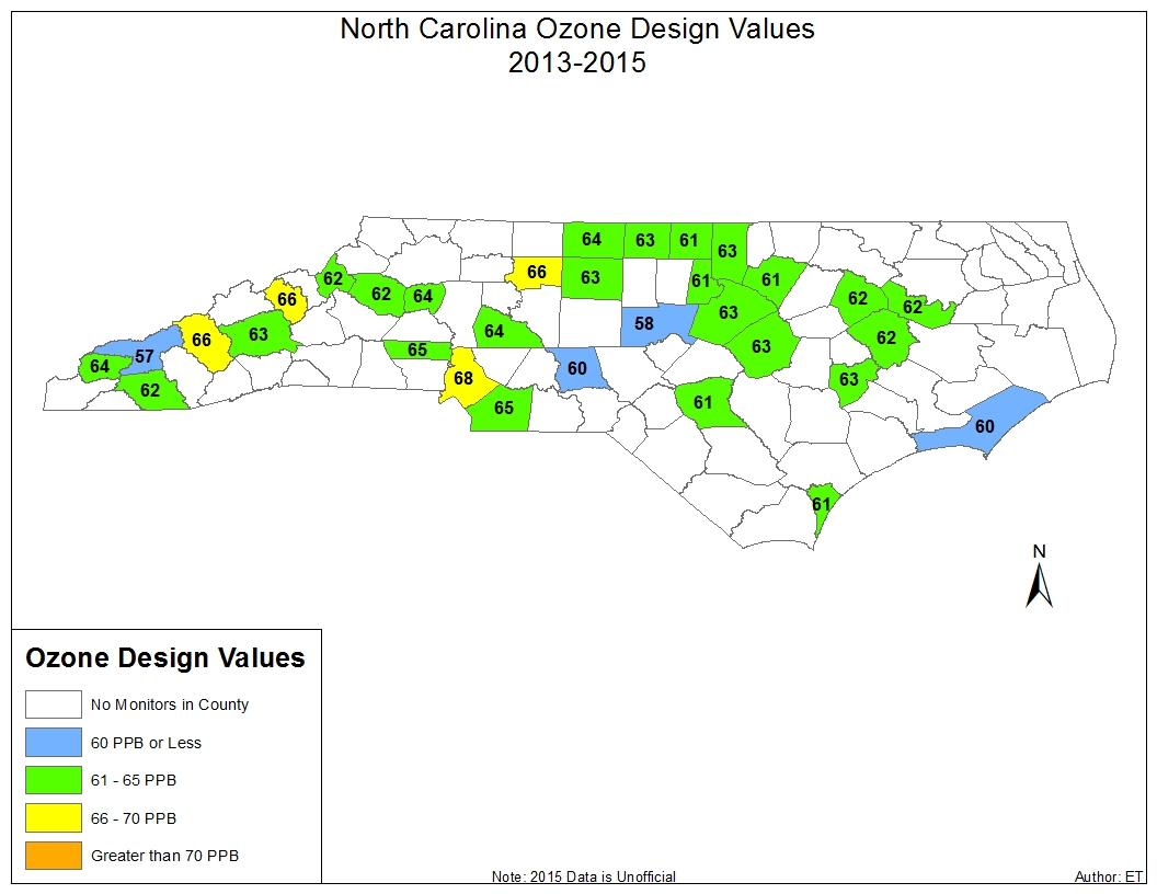 North Carolina Likely To Meet New Ozone Rule North Carolina - Los angeles county air quality map