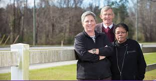ECU researchers on this project to study hypertension in the rural South include, from left, Alyssa Adams, a research specialist in family medicine; Doyle Cummings, a professor of family medicine and public health; and Hope Landrine, director of the Center for Health Disparities.