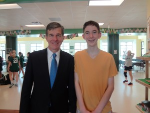 Patrick Deegan, an eighth-grader at Woods, said he and his friends don't talk much about prescription-drug abuse. Photo credit: Taylor Sisk