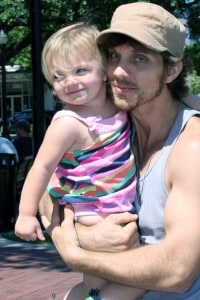 Christopher Webb with his daughter Lillian in May 2012. He was killed at a recycling plant in Reidsville two months later.