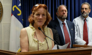 Fayetteville resident Sonya Taylor described how her treatment stopped when she lost Medicaid.