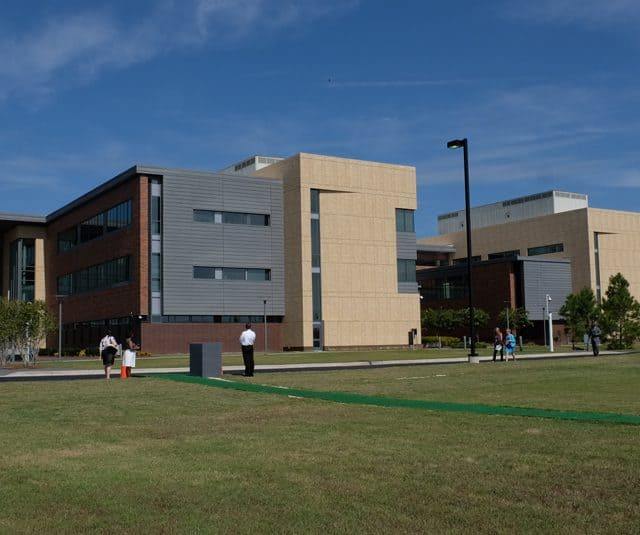 Panorama of the new Cherry Hospital in Goldsboro.