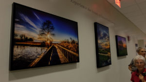 The walls of the new Cherry Hospital are decorated with photographs of eastern North Carolina, taken by staff members.