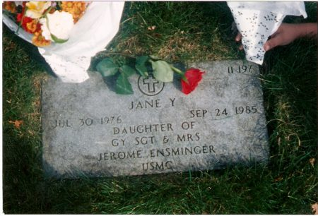 photo of Enmister's daughter's grave