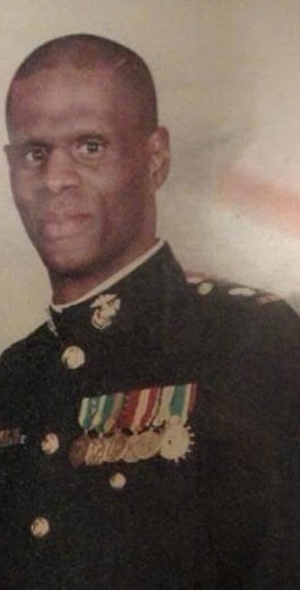 African American man in a Marine Corps uniform